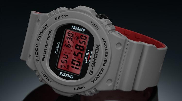 Casio G-Shock x Sneaker Freaker x Stance DW-5700SF-1ER Redback Watch