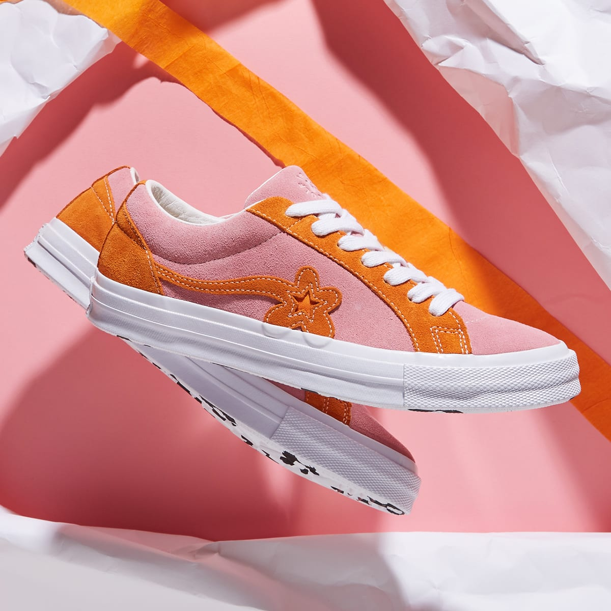 Converse X Golf Le Fleur Two Tones Candy Pink Orange White