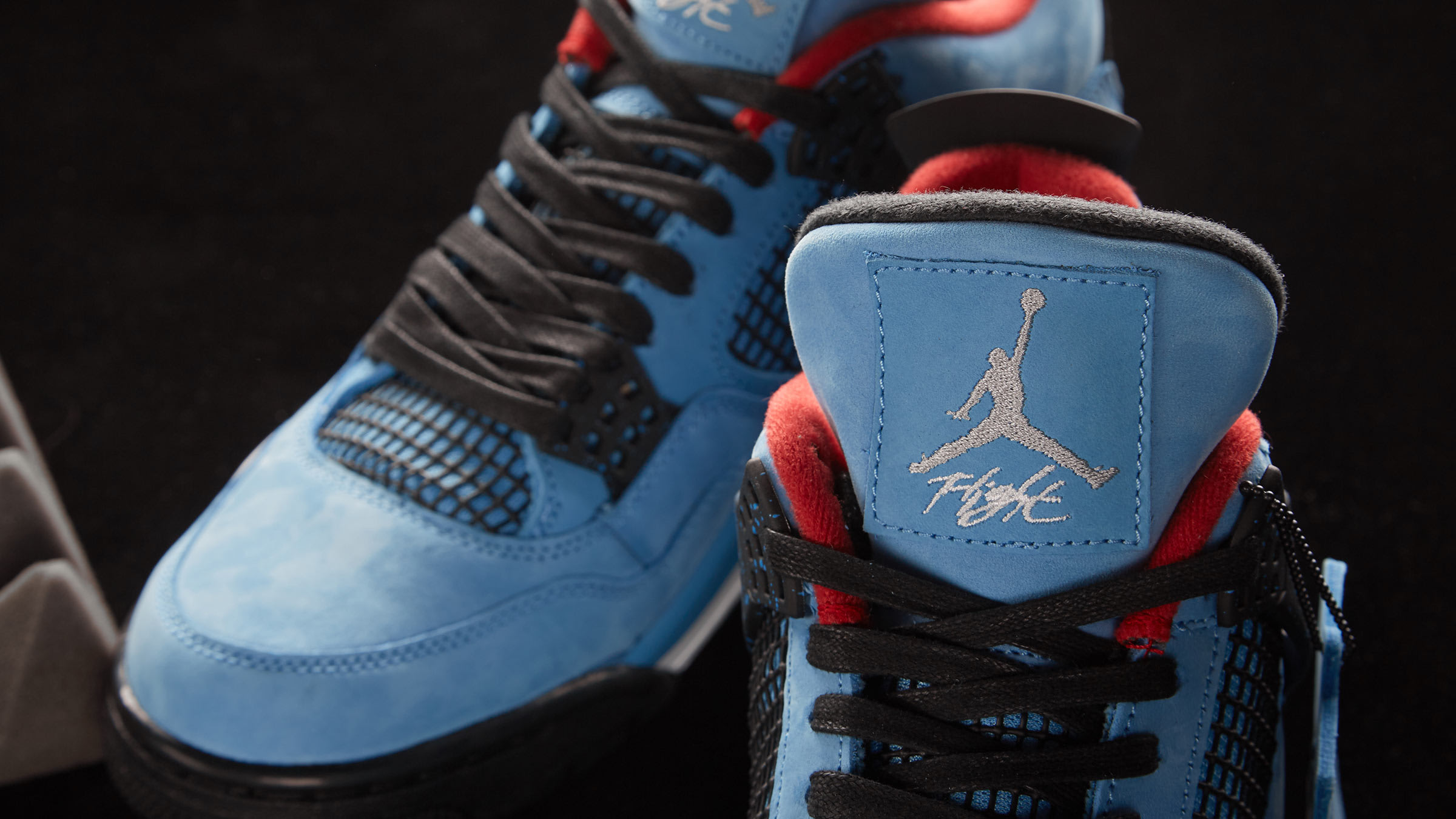 best sneakers 6c525 b7103 Travis Scott x Air Jordan 4. University Blue, Black   Red£169. Cactus Jack