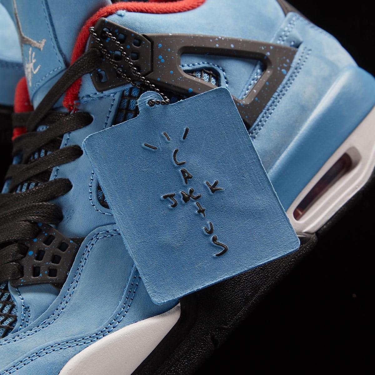 buy popular a7be9 71420 Travis Scott x Air Jordan 4 (University Blue, Black & Red)