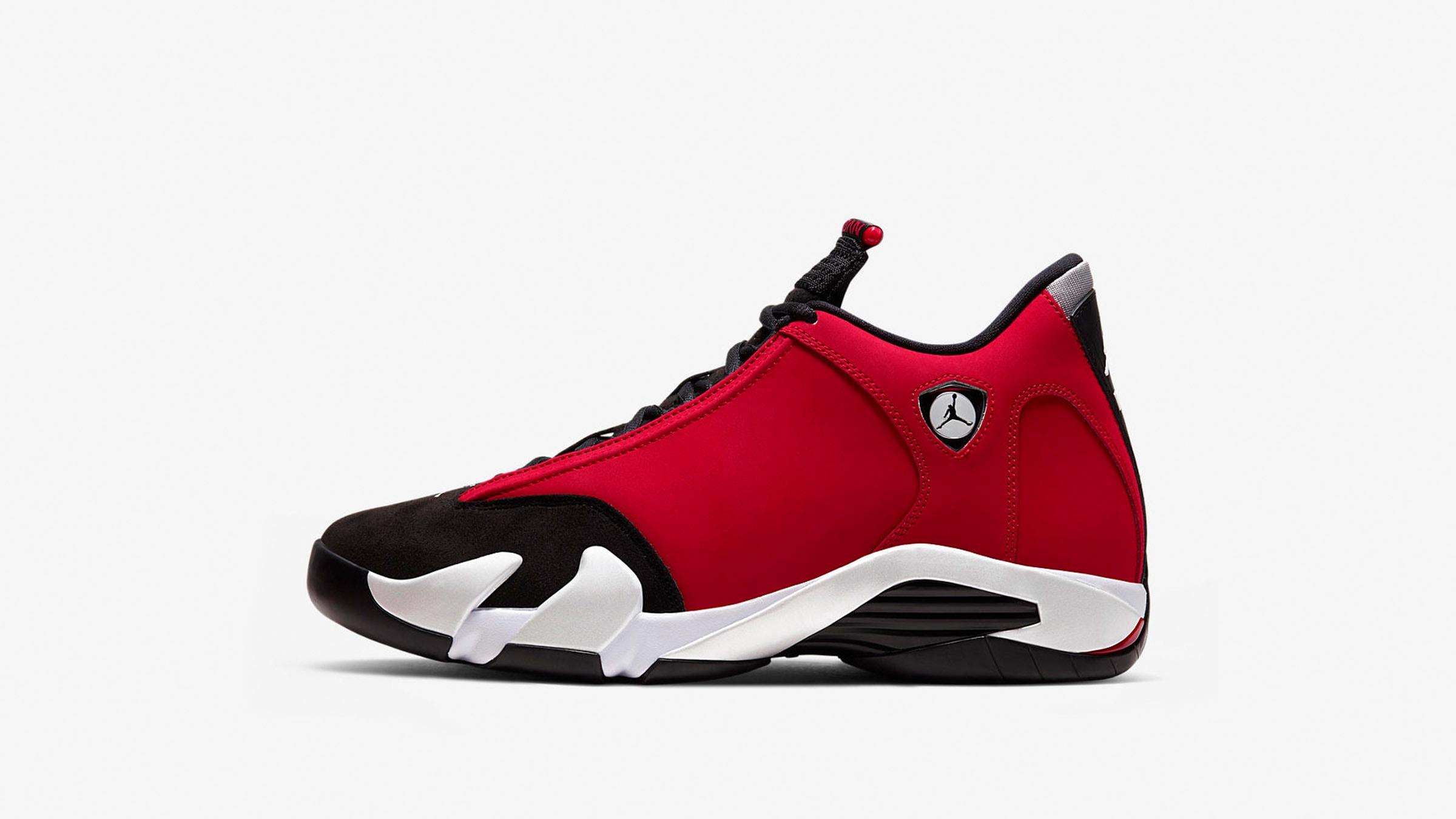Air Jordan 14 Retro (Black, Gym Red