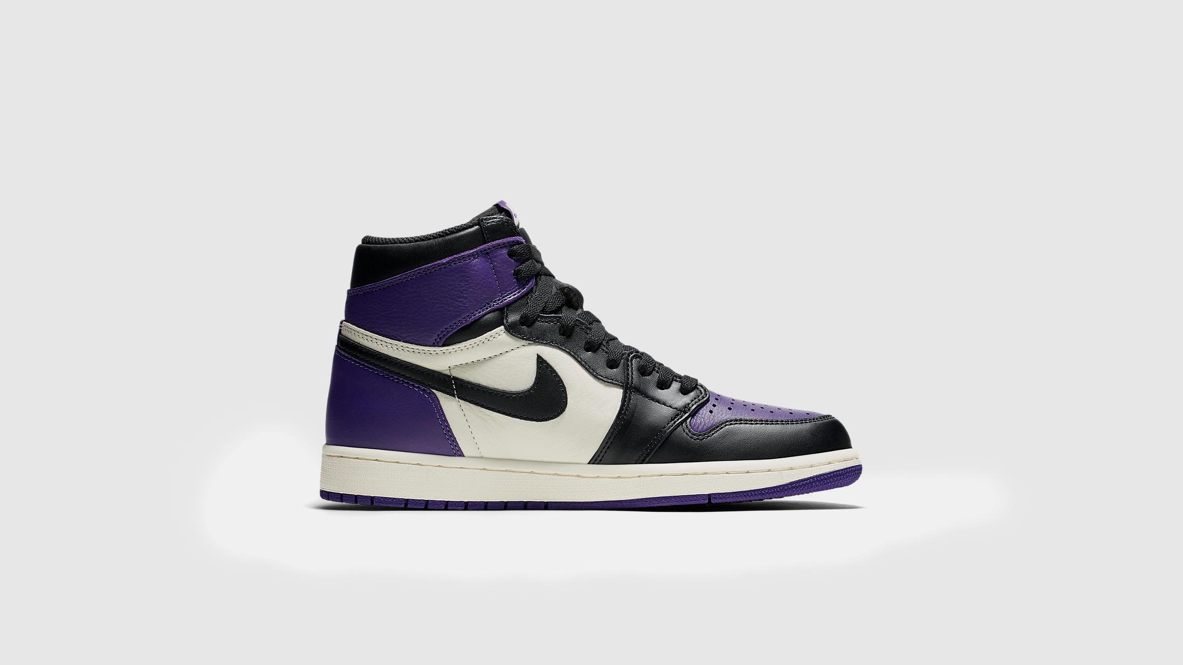 new style 0dd06 0097b Nike Air Jordan 1 Retro High OG. Court Purple   White£129. A new take on  the classic