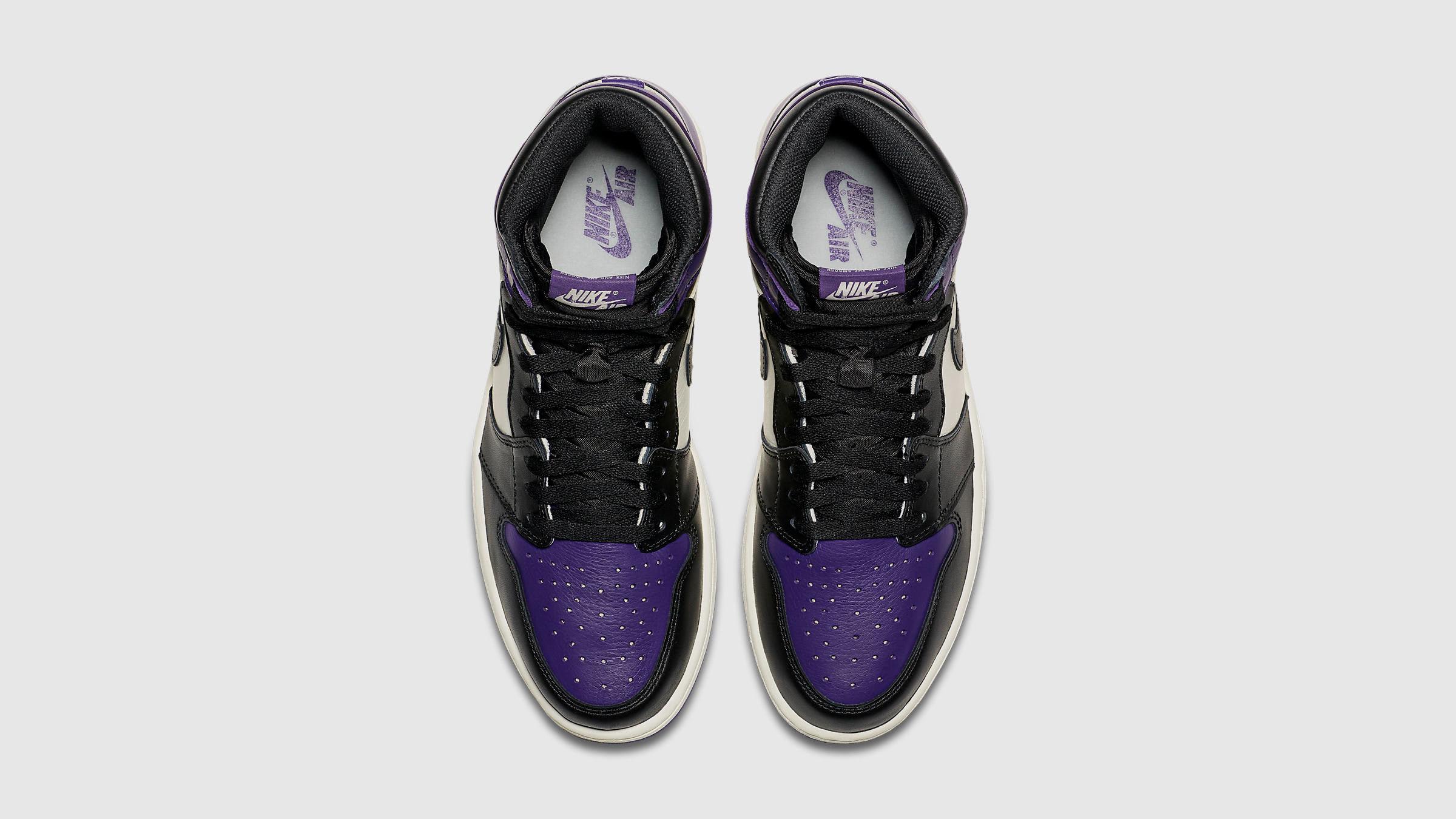 686a2977eb42 Nike Air Jordan 1 Retro High OG (Court Purple   White)