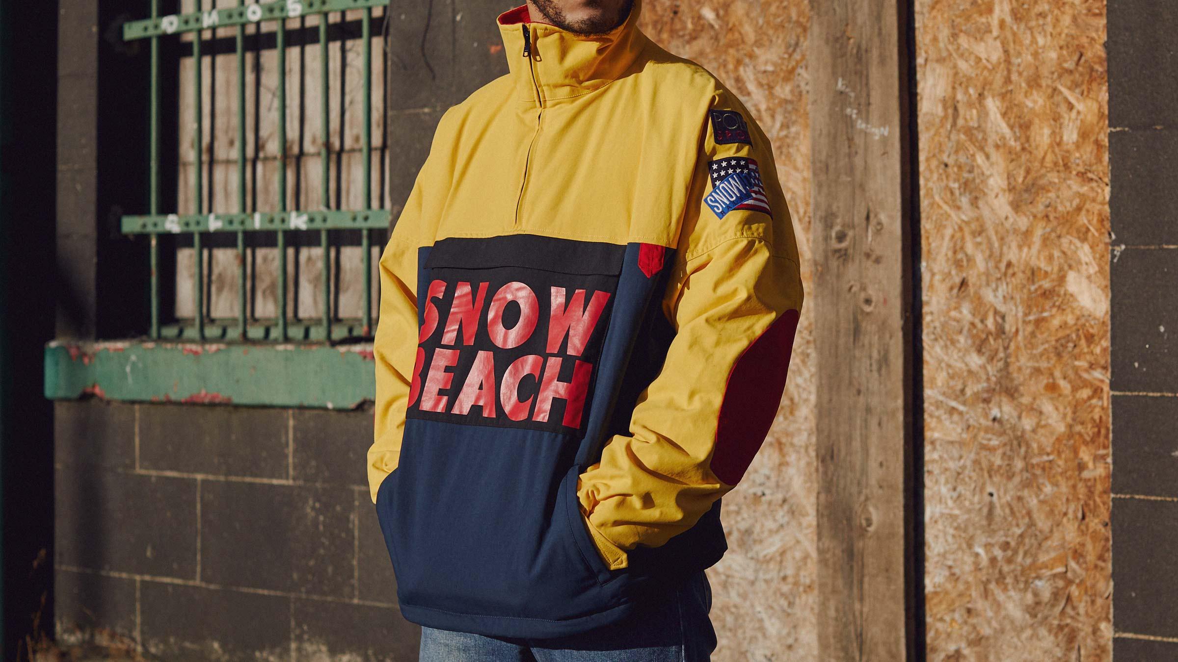 Lauren Smock Zip 'snow Beach'multi Polo Jacket Ralph Half zMSULVpGjq