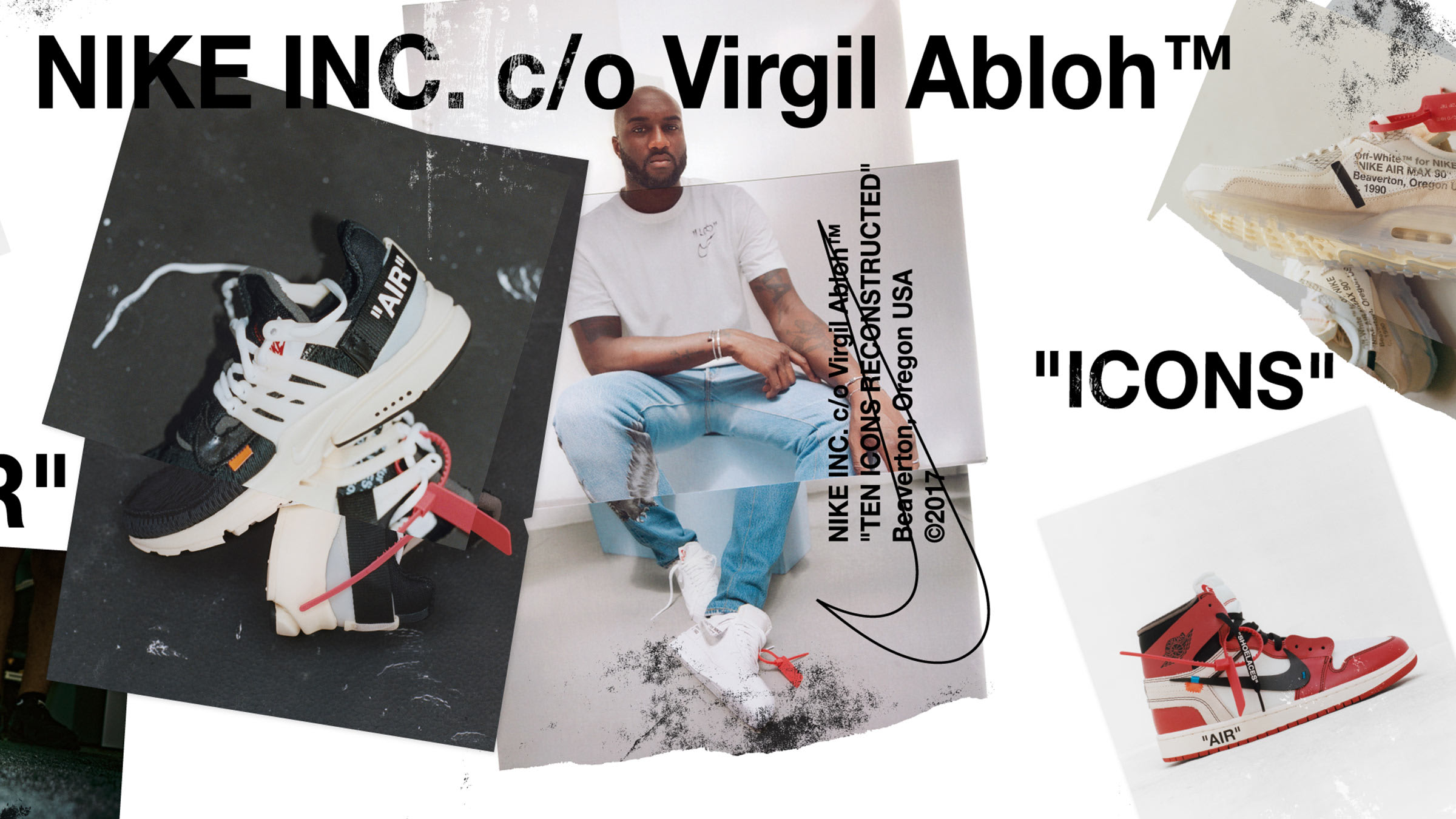 the latest 6c20a 7cf47 An iconic Swoosh style is reworked by Virgil Abloh as the designer teams up  with Nike, releasing a limited-edition collection of archival classics.