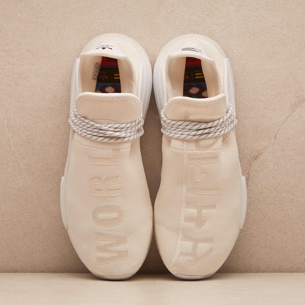 release date a7479 b0d4d Adidas x Pharrell Williams HU Holi NMD (Cream & White)