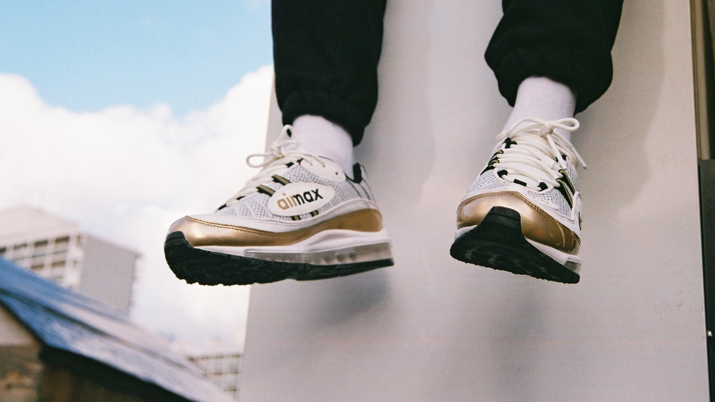 eca35243ba ... nike air max 98 uk gmt. summit white metallic gold149. in full effect  for