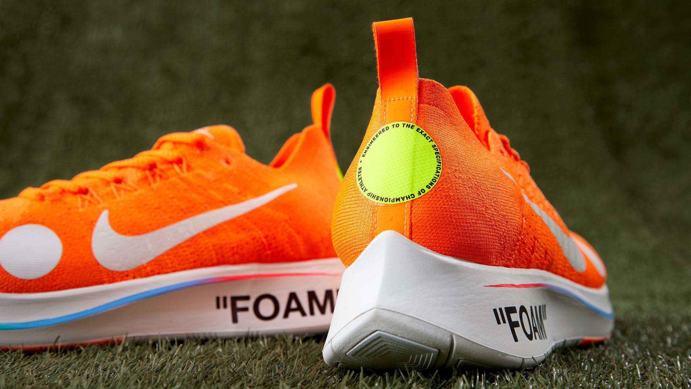 the best attitude 9cb94 0c7e7 Nike x Off-White Zoom Fly Mercurial Flyknit. Orange, White   Volt£159.  Football, Mon Amour