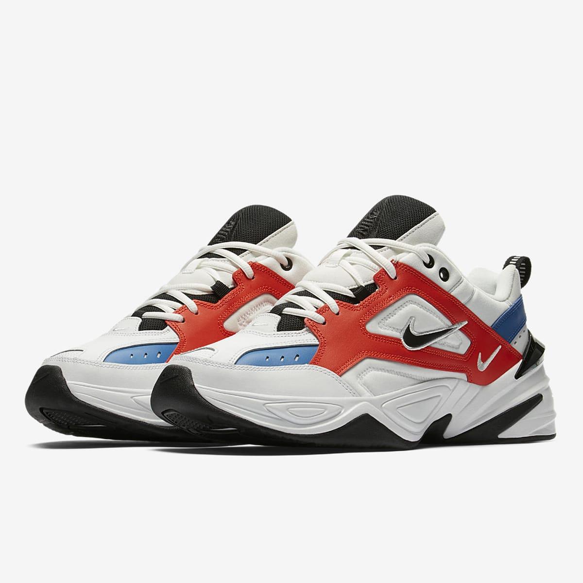 Nike M2K Tekno (White, Black, Orange