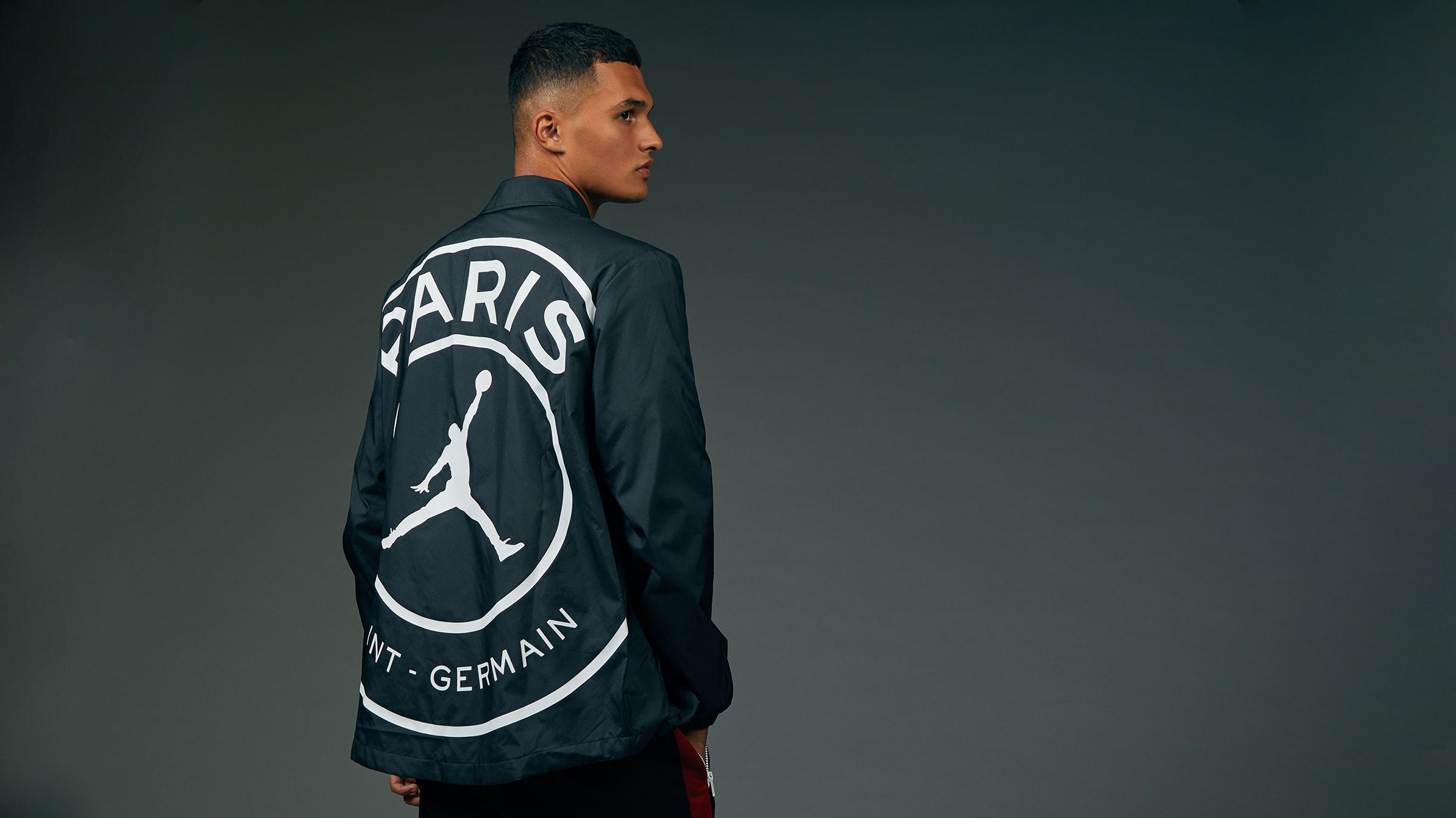 857a09d3b88 Jordan x Paris Saint-Germain Coach Jacket (Black & White)