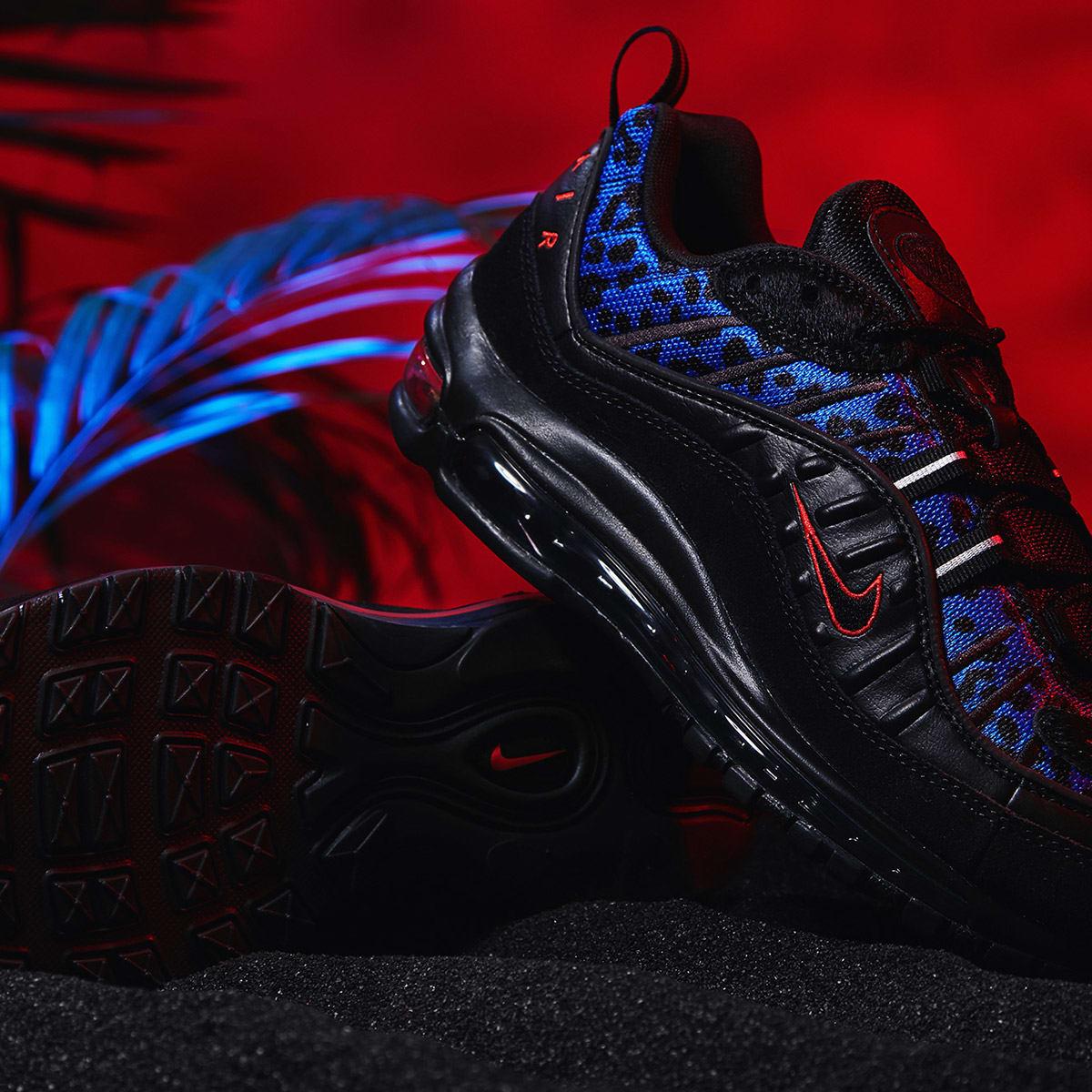 Nike Air Max 98 Premium W 'Animal Pack' Black & Habanero Red