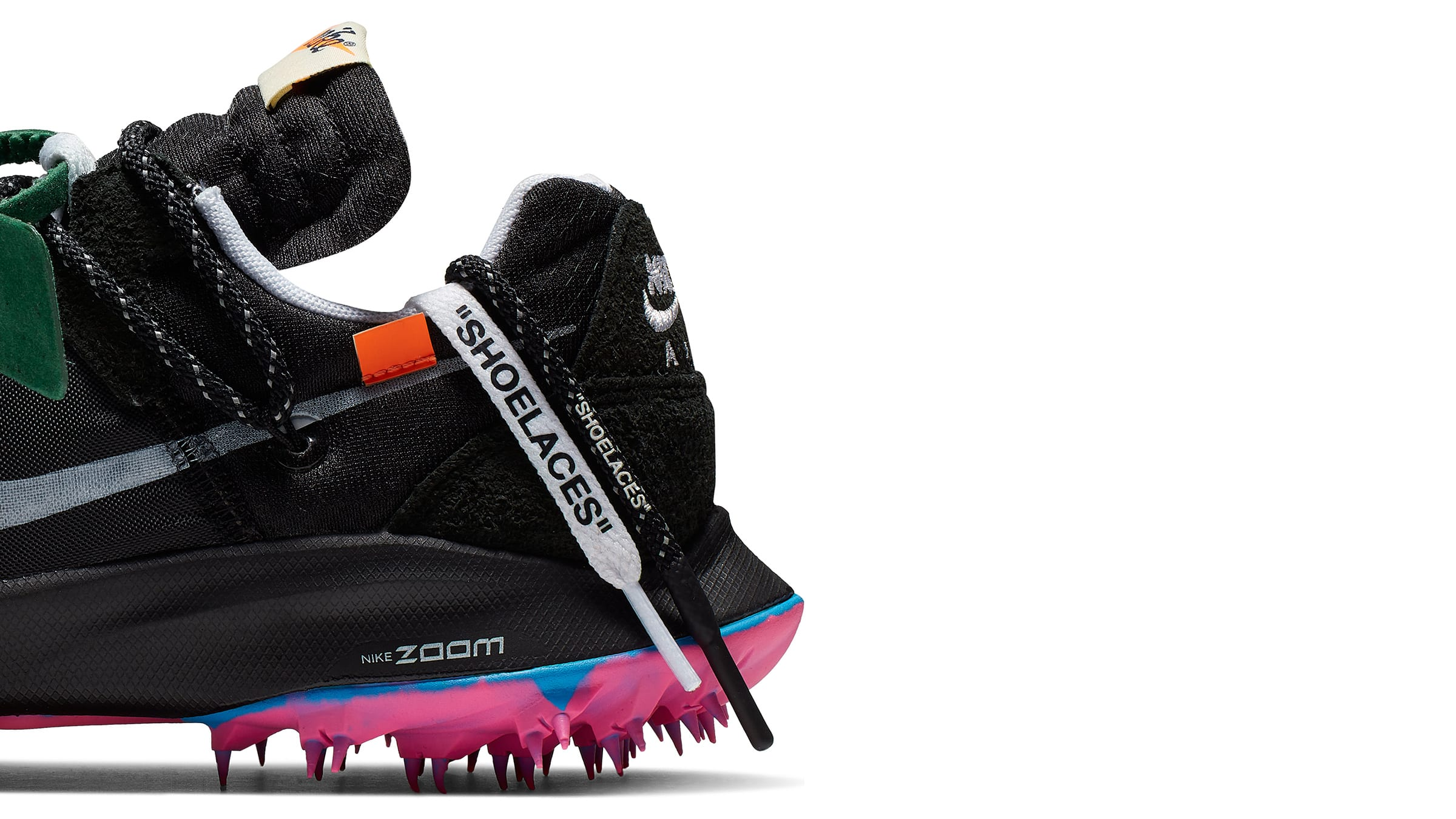 886af2f096dc Off-White's Virgil Abloh pulls out all the stops in his latest  collaboration with Nike, producing a high impact track-inspired pair of  women's sneakers with ...
