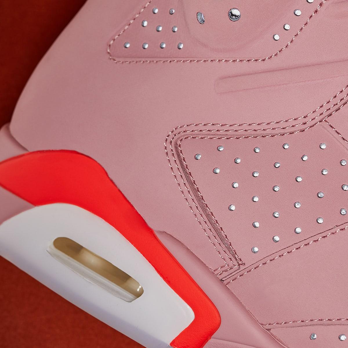 info for 45cb5 69141 Air Jordan 6 Retro (Rust Pink & Bright Crimson)