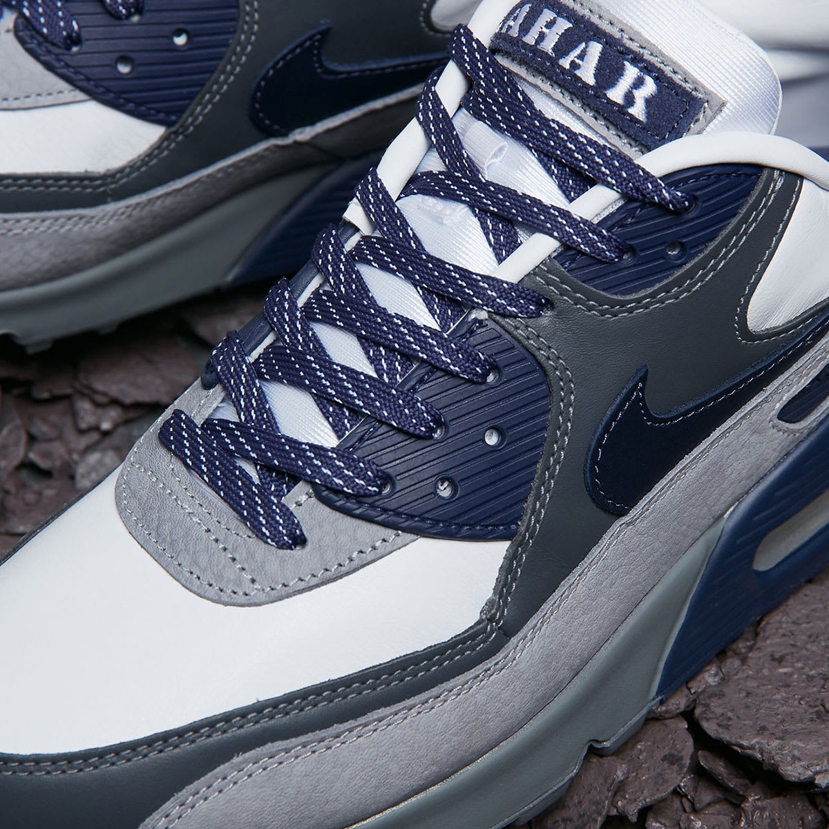 Nike Air Max 90 (White, Natural Indigo & Grey)