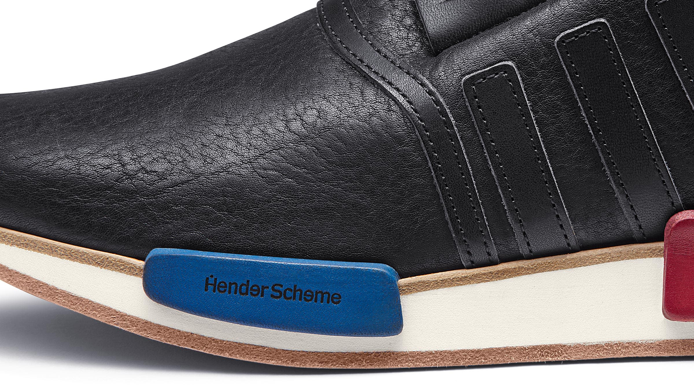 1b65210e745a1 A tech-inspired look crafted with age-old artisanal mastery. This season Hender  Scheme and adidas Originals bring back the NMD R1 s original ...