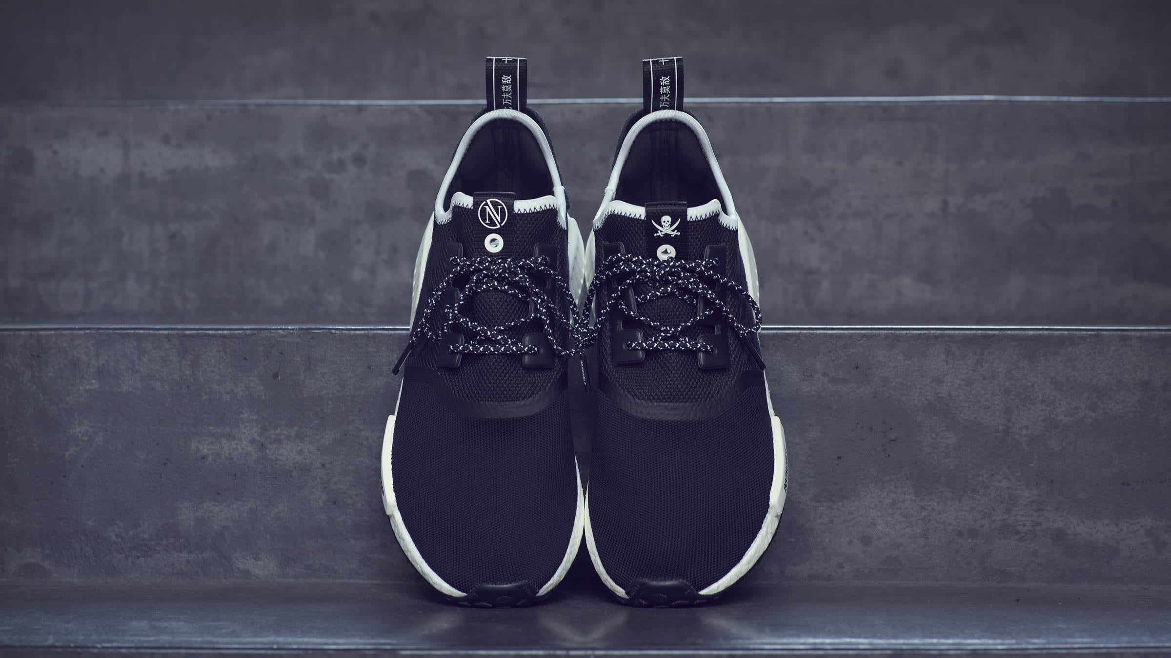 96fd6f50d0ac9 Adidas Consortium x Invincible x Neighborhood NMD R1. Black£169. Taking  cues from Japanese Sukajan jackets