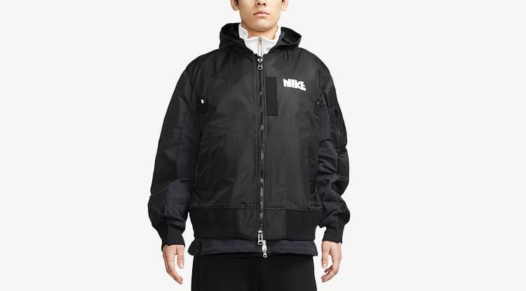 Nike x Sacai Layered Bomber Jacket