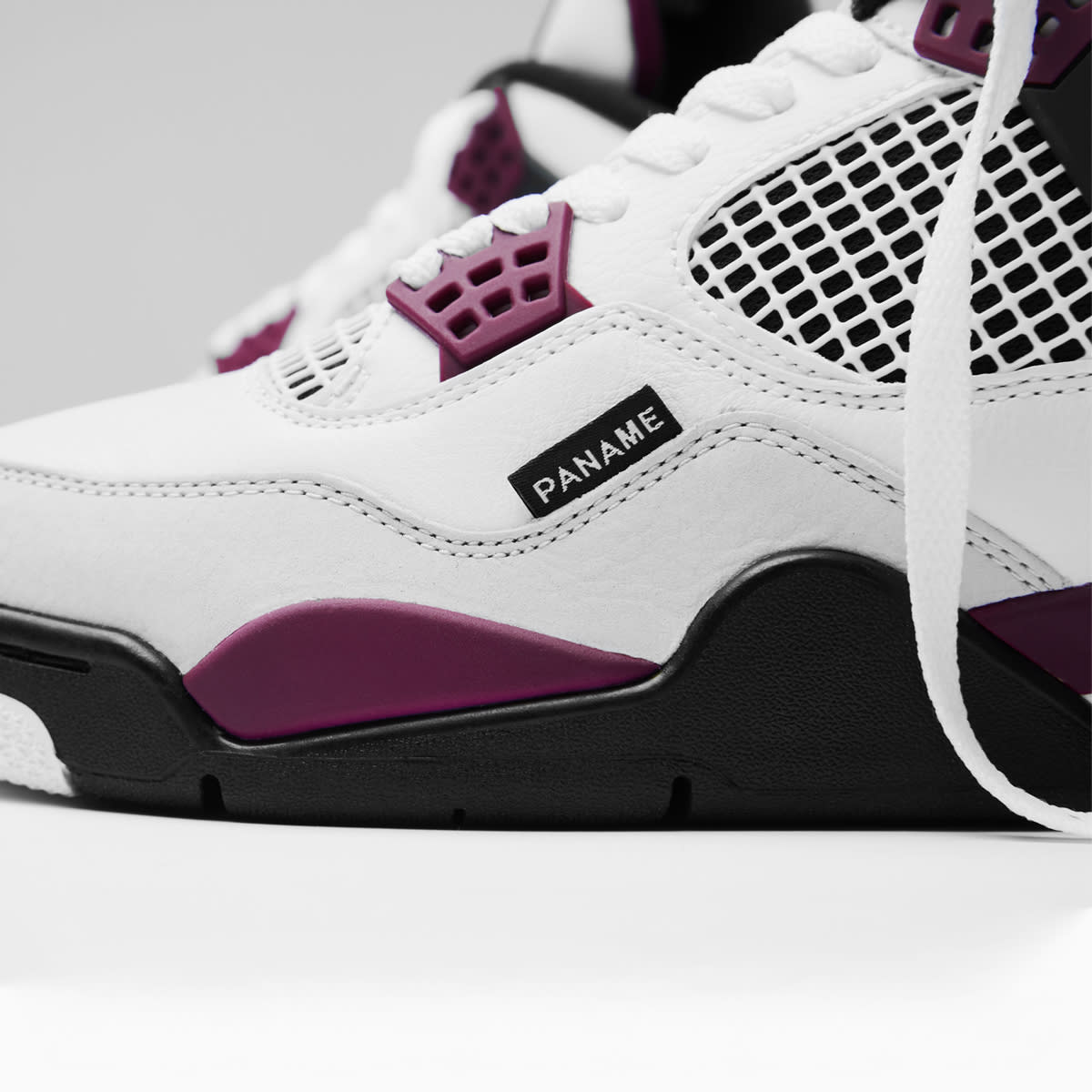 Nike Air Jordan 4 Retro Psg White Bordeaux Grey