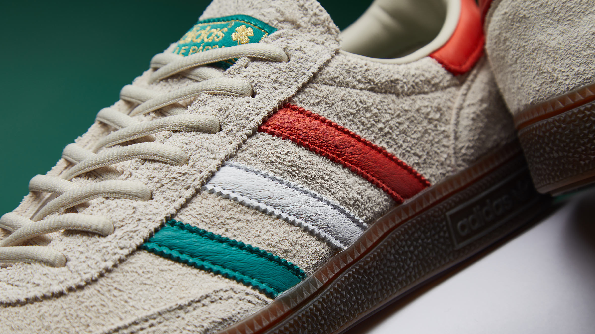 14dbbb326 Putting an Irish twist on terrace style, adidas' Handball Spezial is back;  landing with its three-stripes informed by the country's green, white and  orange ...