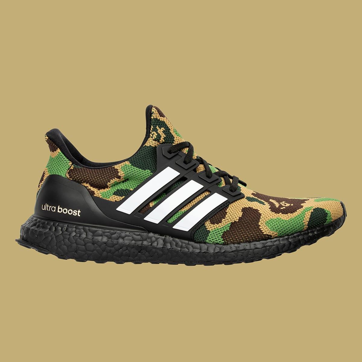 separation shoes f5f6e 34536 Adidas x BAPE Ultra Boost (Green Camo)