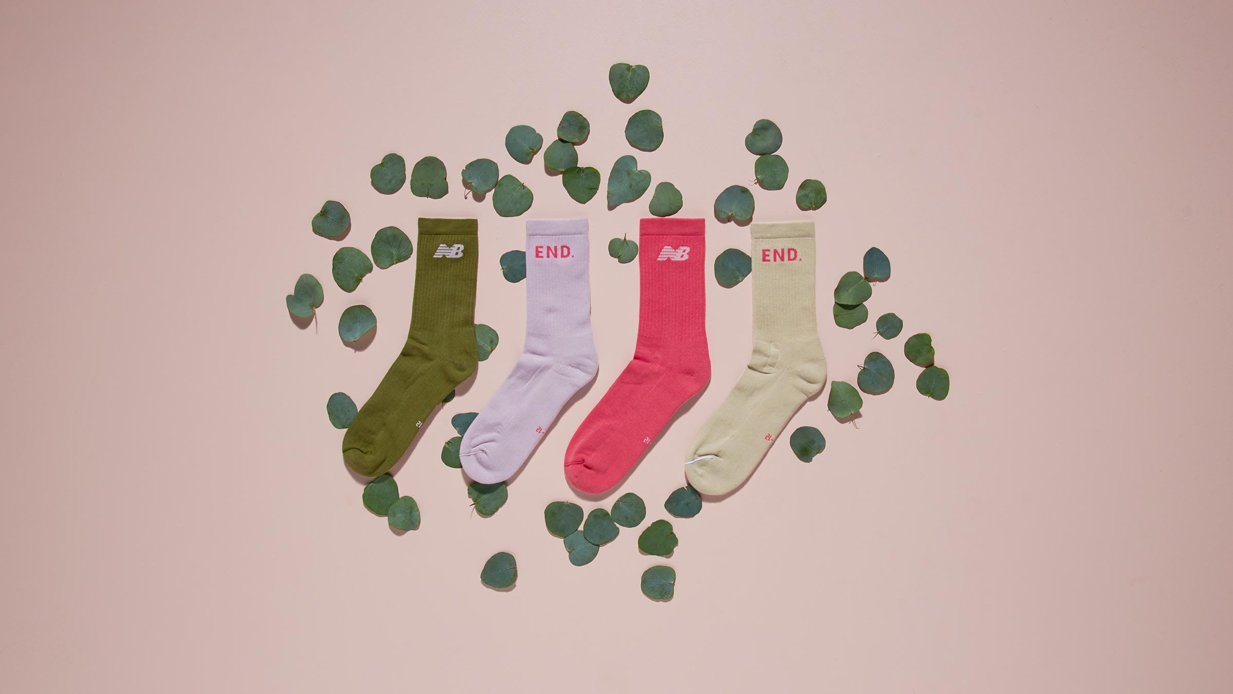END. x New Balance Rainbow Eucalyptus Terry Sock (Multi)