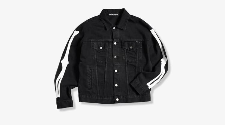 Palm Angels Halloween Skeleton Denim Jacket - END. Exclusive