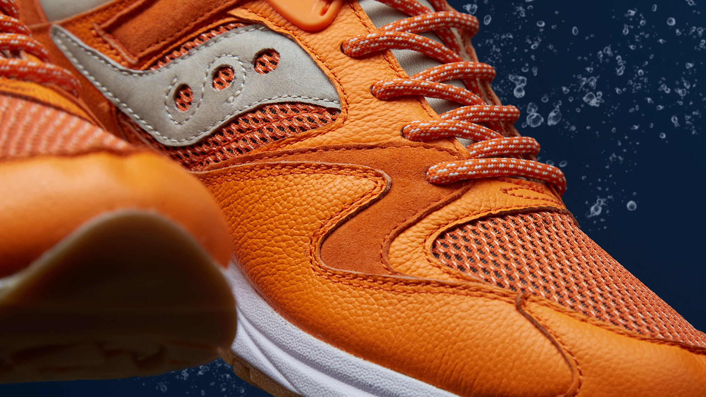 4d5439dfbb07 Our catch of the day serves up a lobster flavoured runner in collaboration  with Massachusetts-based Saucony. A nod to one of New England s most  beloved ...